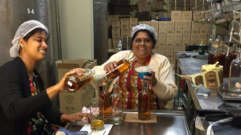 Handmade St. Aubin Rum.