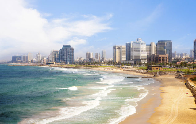 Wunderschön: Der Strand in Tel Aviv