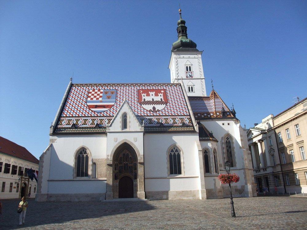 Die St.-Markus-Kirche in Zagreb