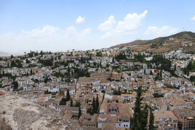 Blick von Alhambra auf Granada