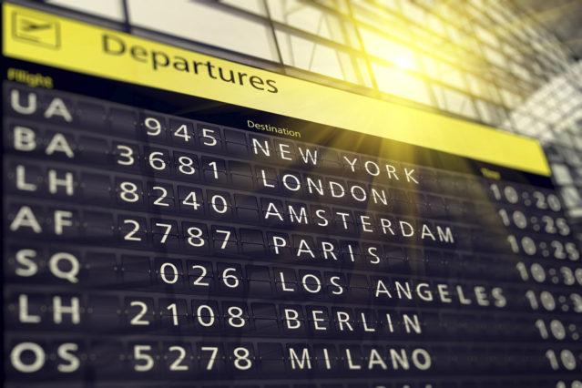 Flughafen Anzeige