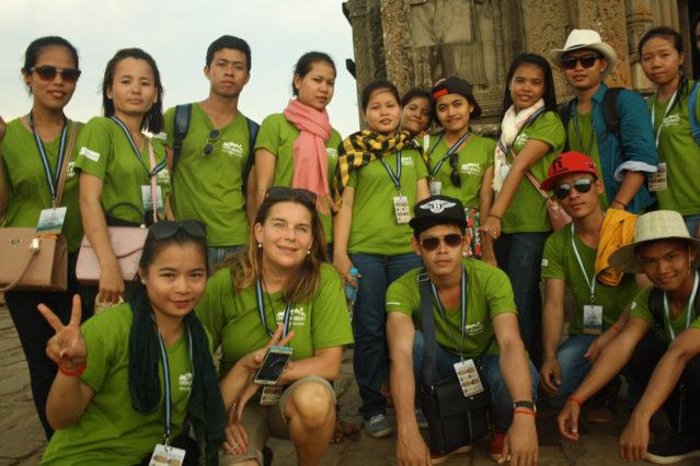 Schüler der DBHS in Kambodscha