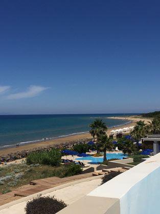 Zimmerausblick im Grecotel Olympia Riviera Thalasso