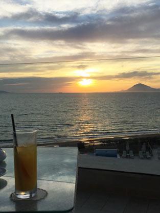 Sonnenuntergang im Grecotel Olympia Riviera Thalasso
