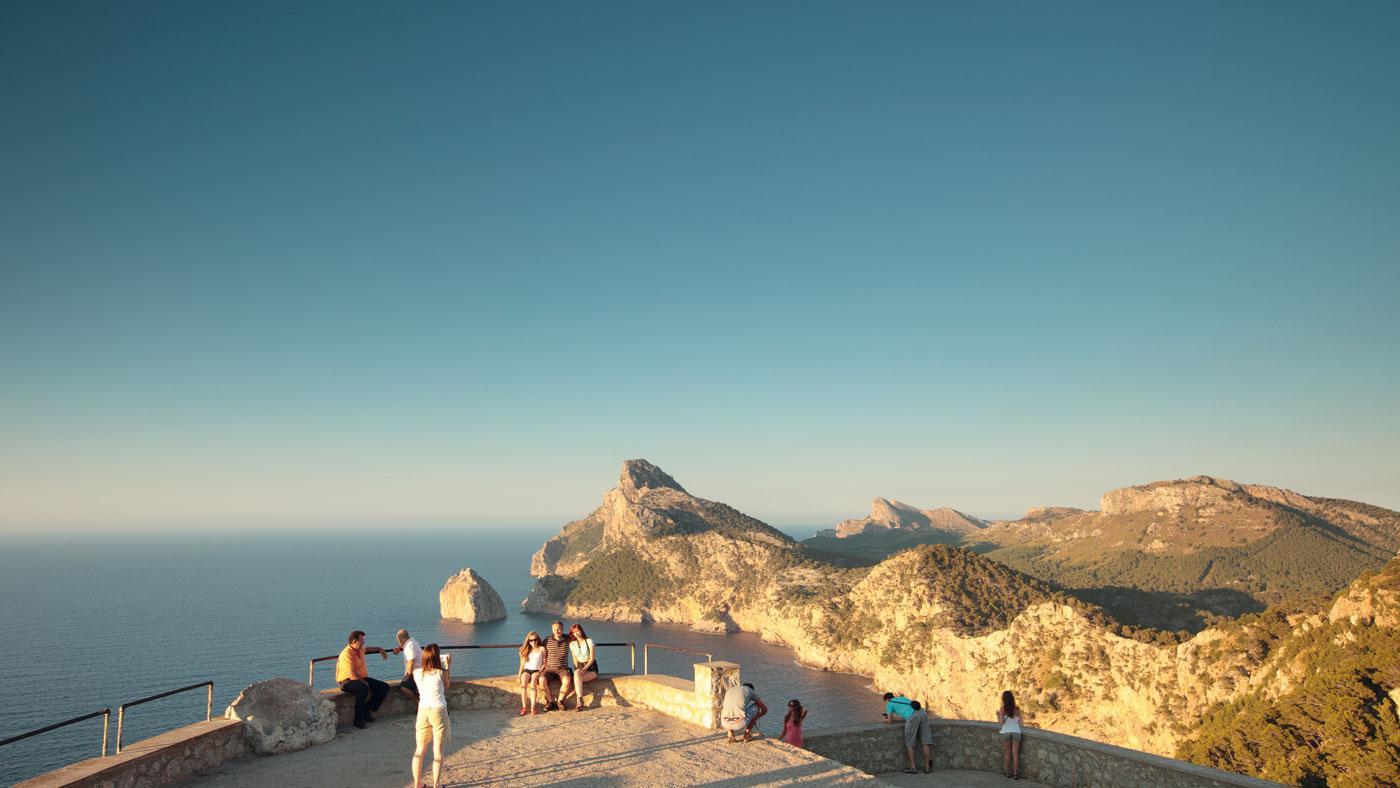 Die Aussicht am Cap Formentor auf Mallorca
