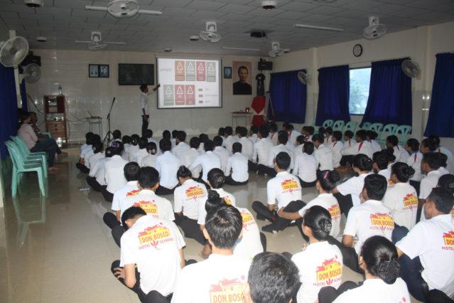 Präsentation an der DBHS