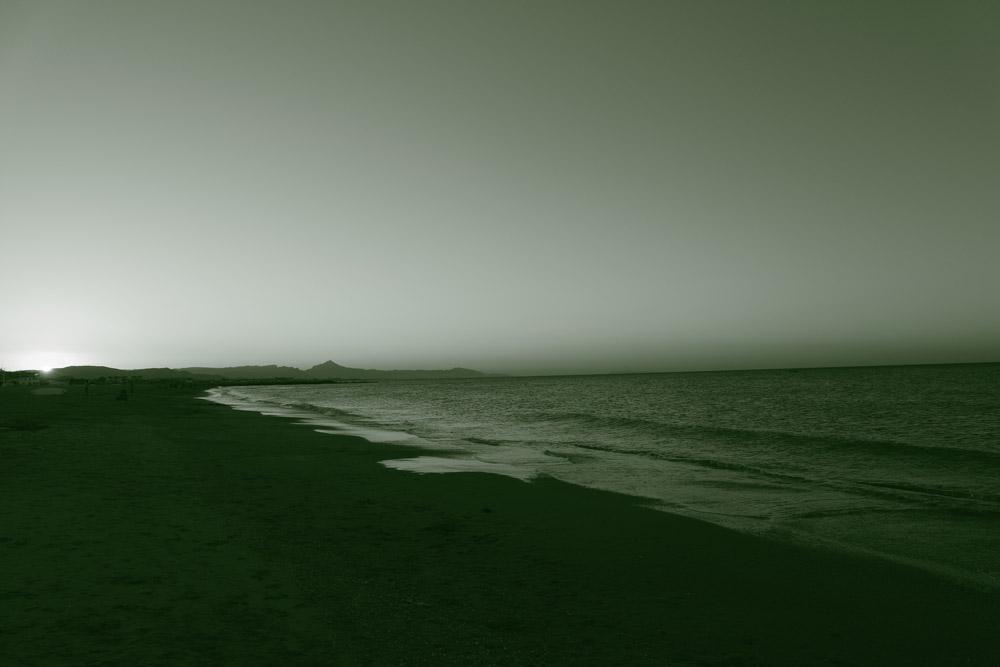 Strand in grün