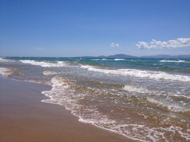 Sandstrand des Grecotel Olympia Riviera Thalasso