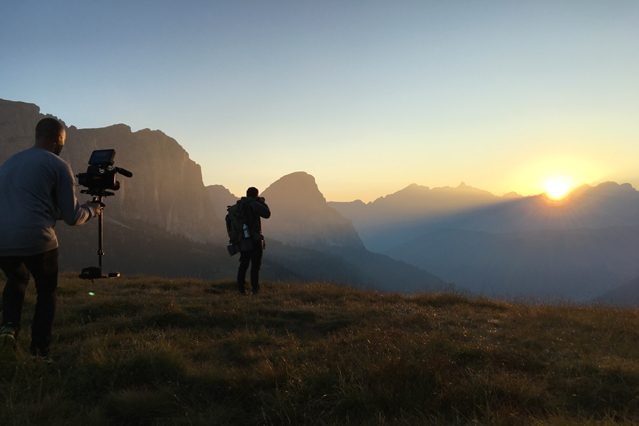 Bergwelt bei Sonnenaufgang