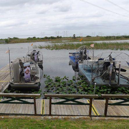 Airboats in den Everglades
