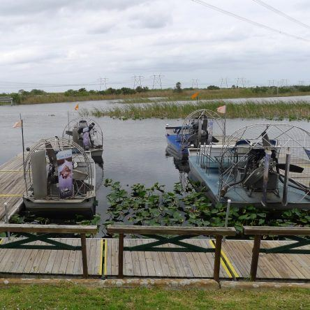 Airboats in den Everglades