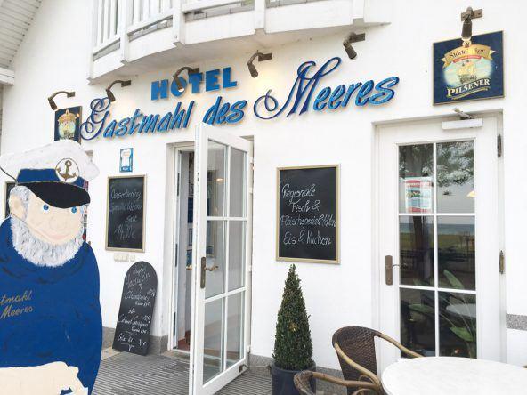 Das Restaurant und Hotel Gastmahl des Meeres in sassnitz. Wer hier nicht resviert, bleibt vielleicht hungrig.