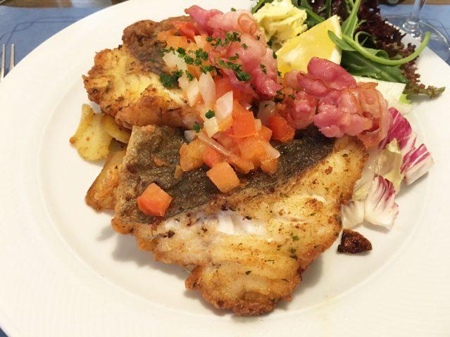 Lecker Essen im Restaurant Gastmahl des Meeres in Sassnitz