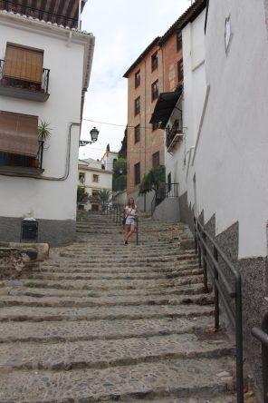 In Granada ist es hügelig