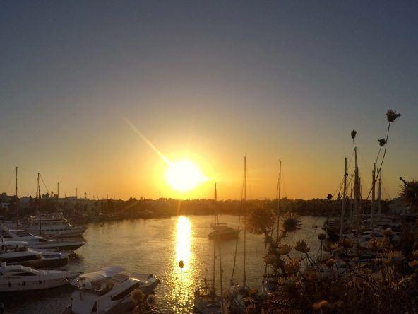 Traumhafter Blick auf den Hafen
