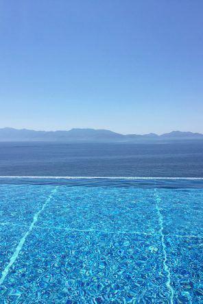 Toller Blick vom Pool zum Meer: Hotel Michelangelo