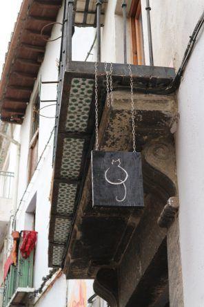 Blechschild in Granada