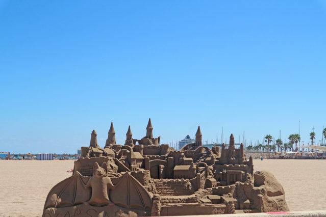 Kunstwerk aus Sand in Valencia
