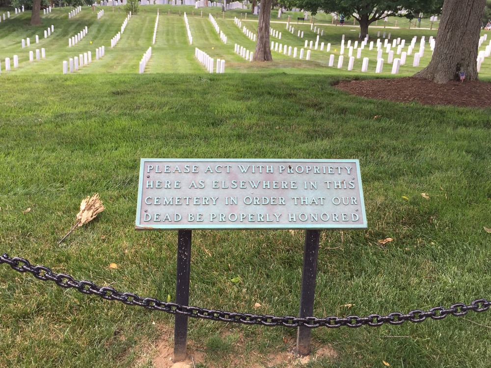 Der bekannte Nationalfriedhof Arlington
