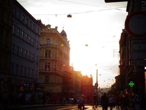 Abendstimmung in den Prager Straßen