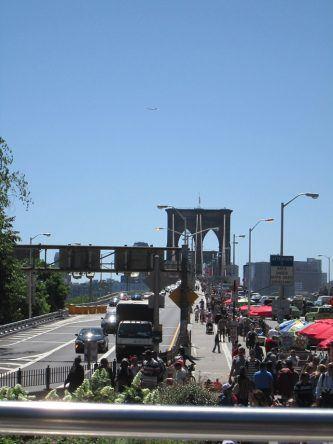 Andrang auf der Brooklyn Bridge