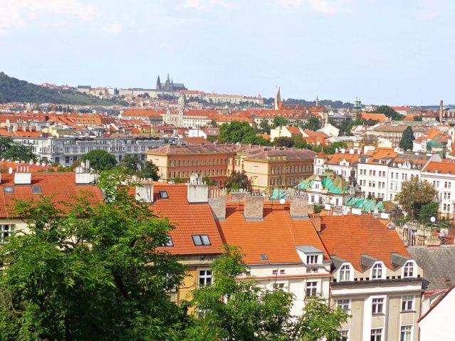 Blick von der Burganlage Vysehard