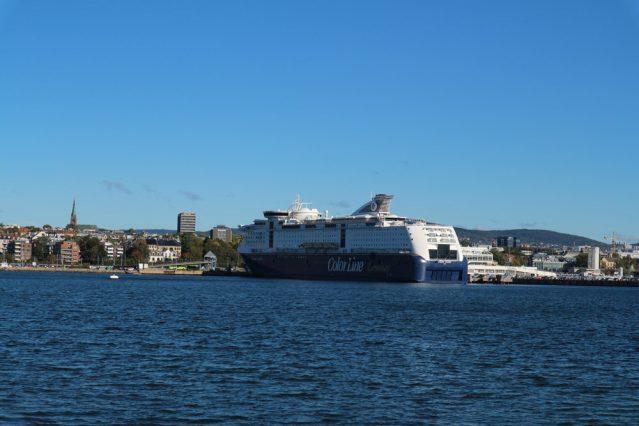 Unser Schiff im Hafen von Oslo