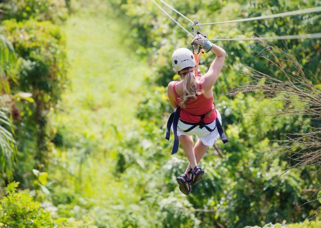Ziplining in der Dominikanischen Republik