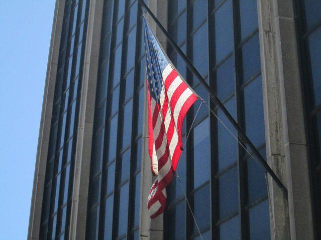 Die Flagge der Vereinigten Staaten