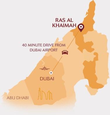 Karte von Ras Al Khaimah