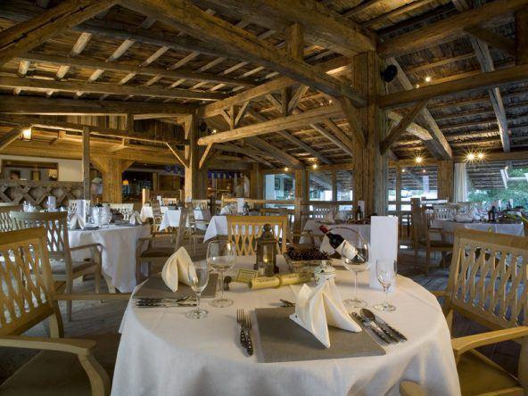Das Hauptrestaurant im Hotel Lanig