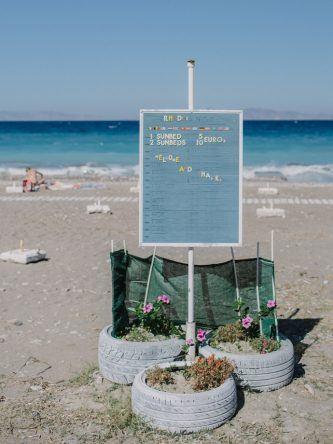 Am Strand von Rhodos (Fotocredit: Alexandra Kryanewa)