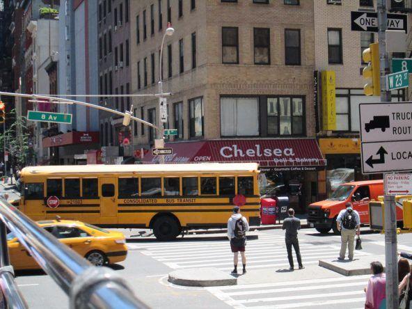 Typischer Schulbus in NY