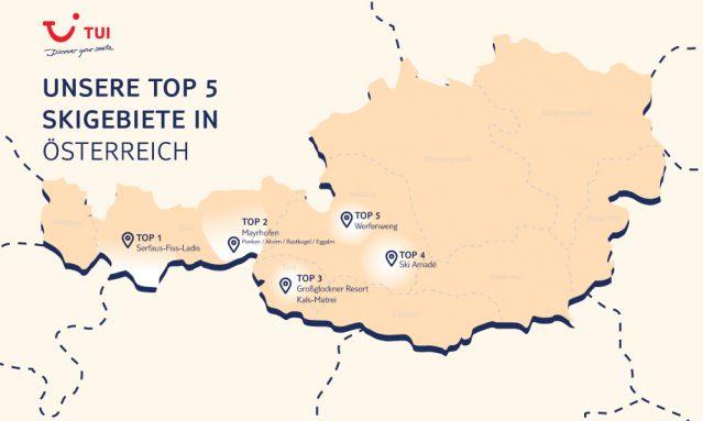 Top Regionen für den Skiurlaub Österreich