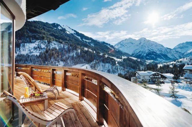 Beste Aussicht auf die Berge genießen, könnt ihr im Travel Charme Ifen Hotel