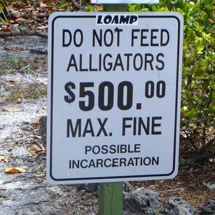 Dieses Schild sollte ernst genommen werden