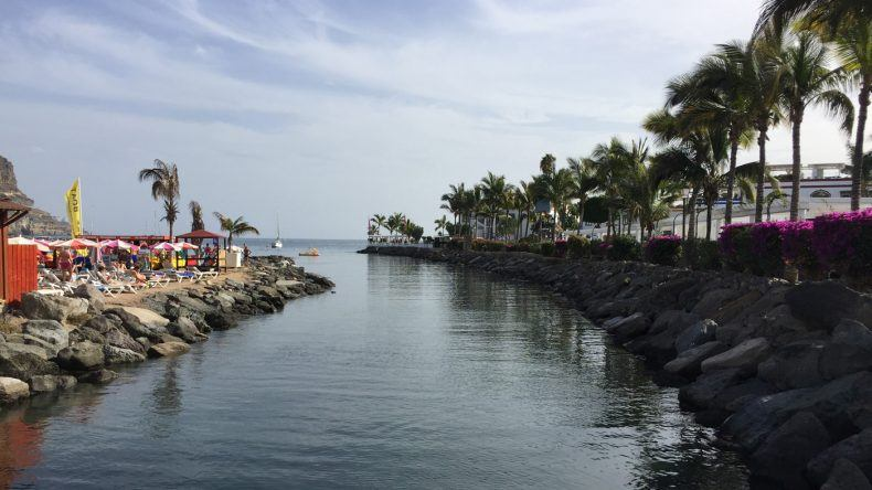 Wasserkanal im schönsten Dorf der Kanareninsel