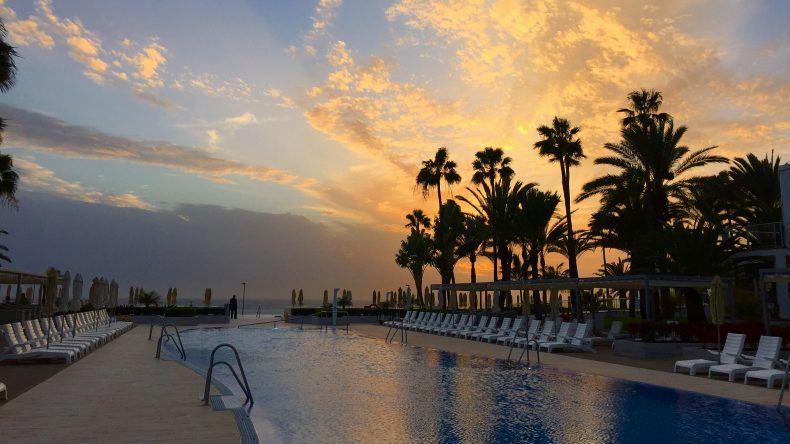 Sonnenuntergang im Riu Palace Meloneras Resort