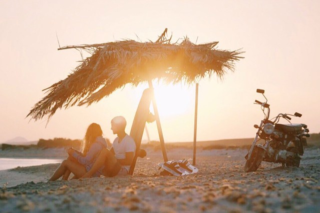 Sundowner auf Limnos.
