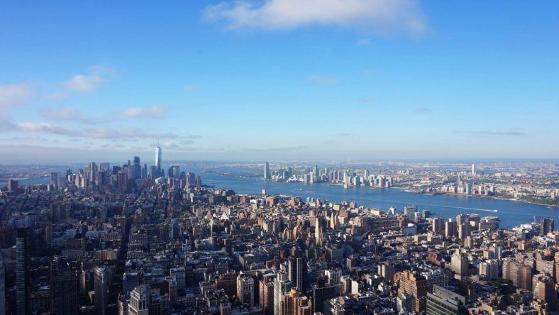 New York, Empire State Building, Hudson River