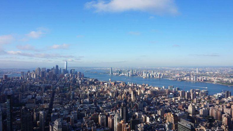 New York, Empire State Building, Hudson River