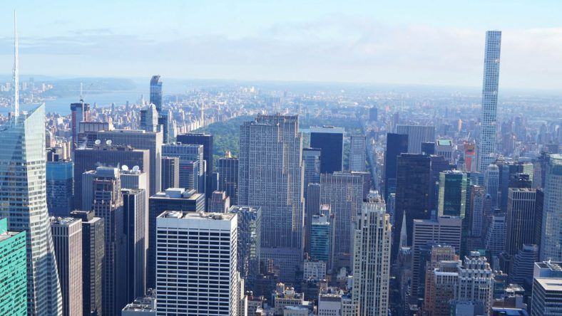 New York, Empire State Building, Blick zum Central Park