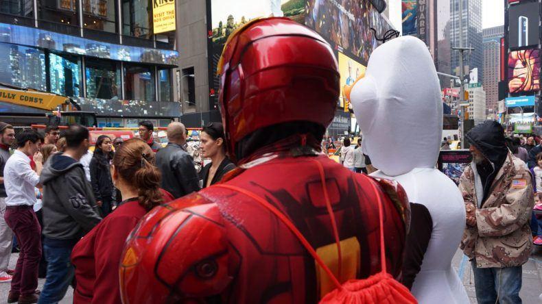 New York, Beliebtes Fotomotiv: die Heroes