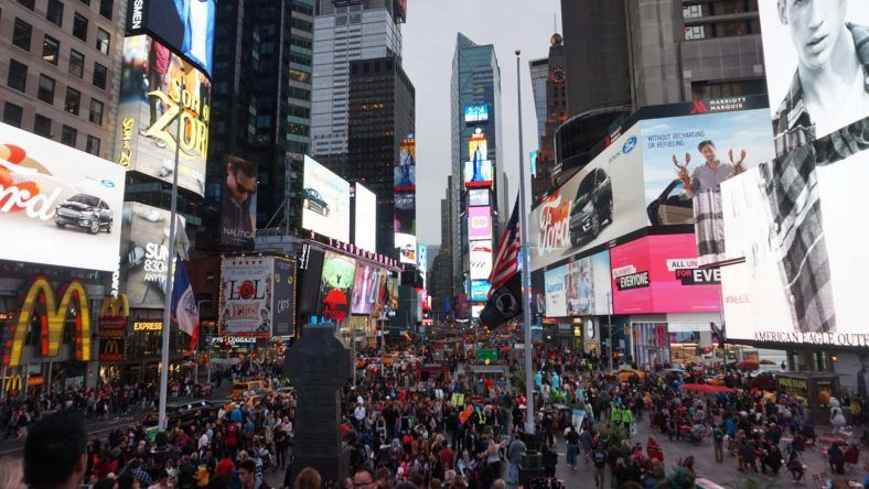 New York, Times Square am Abend