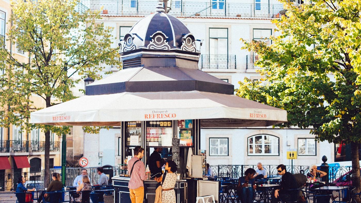 An der Praça das Flores steht ein besonders schöner Pavillon