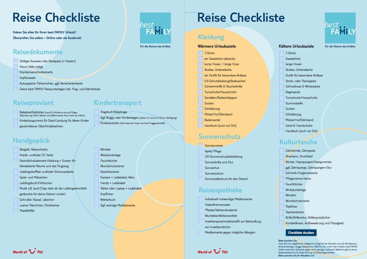 Zum Ausdrucken: Mit Klick auf das Bild erhaltet ihr die Reise Checkliste für euren nächsten Sommer-Familien-Urlaub in Druckformat