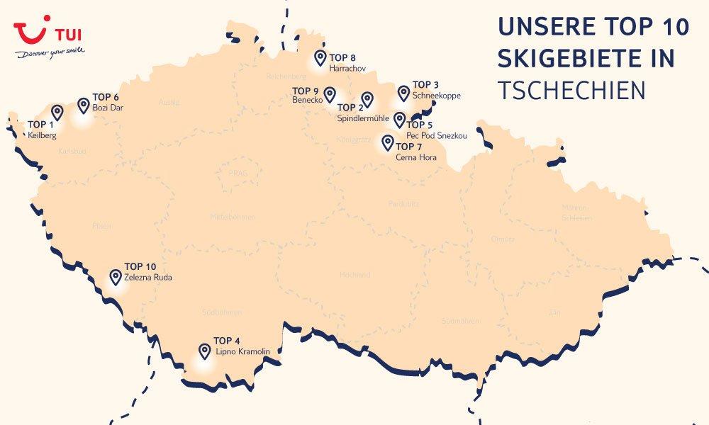 Tschechien Skiurlaub - Die Top 10 Skigebiete