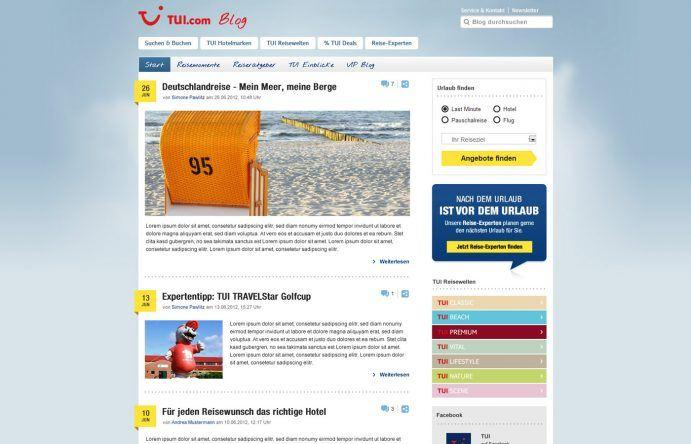 Erstes Redesign des TUI Blogs