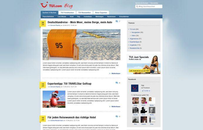 Zweites Redesign des TUI Blogs
