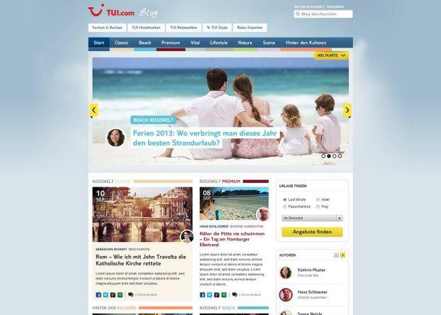 Bisher die größte Veränderung: Der TUI Blog wird magazinähnlich